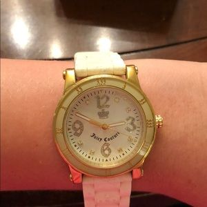 Juicy Couture white and gold watch